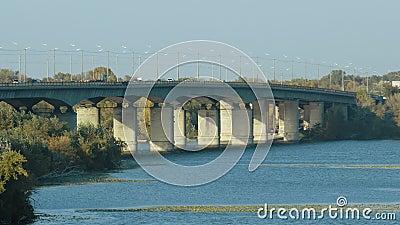 Puente del Automóvil de Kaydak almacen de video