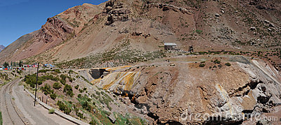 Puente del Inca in Argentine Andes