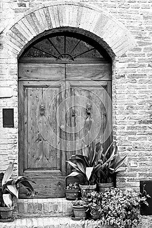 Puerta antigua Toscano Italia de Toscana