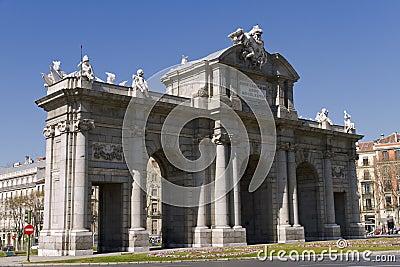 Puerta de Alcala. Alcala gate in Madrid