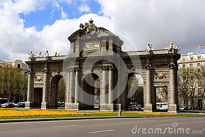 Puerta de Alcala, Madrid Editorial Image