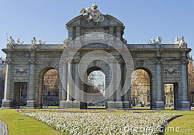 Puerta de Alcala in Madrid - Spain