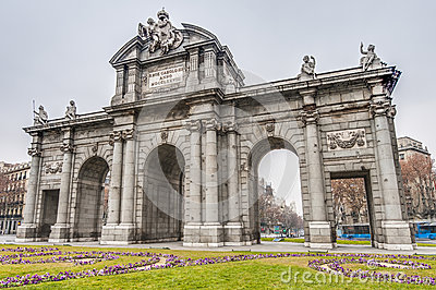 Puerta de Alcala at Madrid, Spain