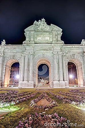 Puerta de Alcala at Madrid, Spain
