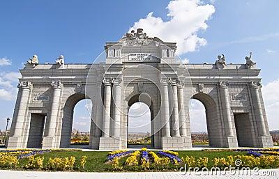 Puerta de Alcala in scale  in Europa Park,Madrid