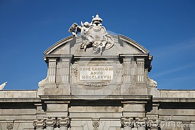 Puerta de Alcala shield detail
