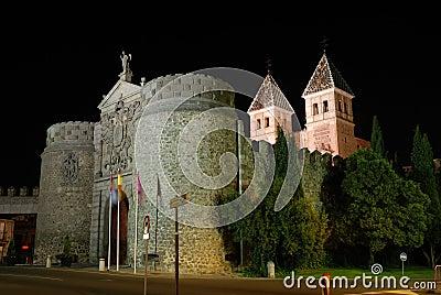 Puerta de Bisagra in Toledo, Spain