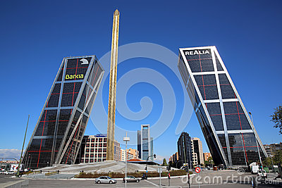 Puerta de Europa. Madrid Editorial Photo