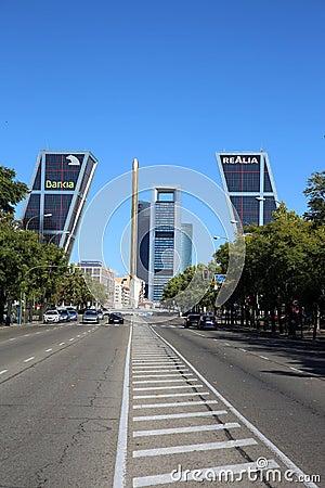 Free Puerta De Europa. Madrid Stock Image - 28152821