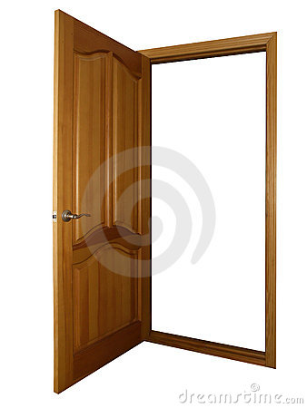 Puerta de madera abierta en blanco fotos de archivo libres - Puertas de madera en blanco ...
