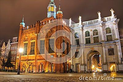 Puerta de oro en Gdansk