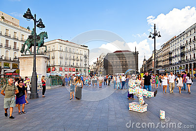 Puerta del Sol, Madrid Editorial Stock Photo