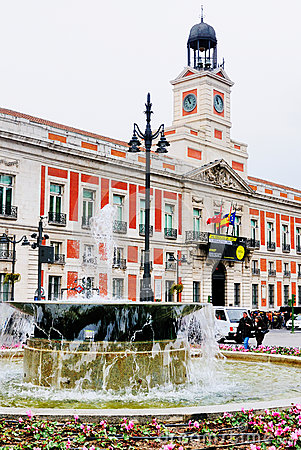 Puerta del Sol, Madrid Editorial Photography