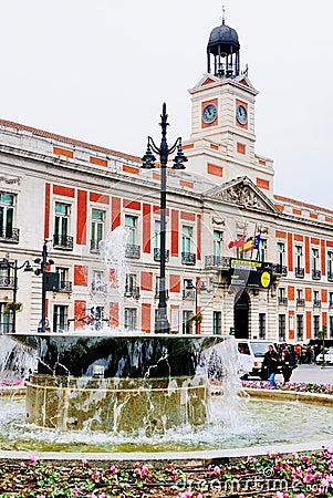 Puerta del Sol, Madrid Editorial Photography