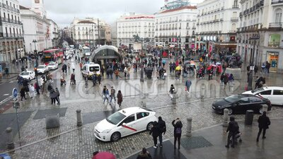 Puerta del Sol square in Madrid, Spain stock video footage