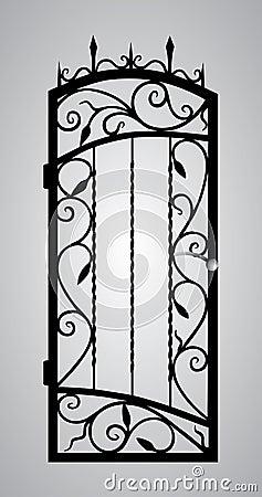 Puerta forjada de la puerta.