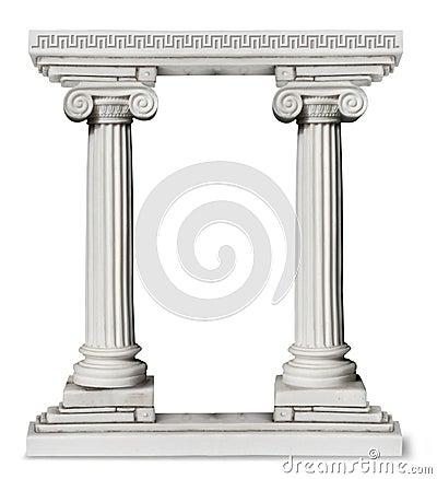 Puerta griega de las columnas