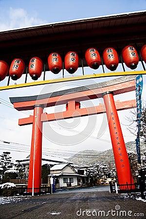 Puerta Japonesa Del Templo Foto De Archivo Imagen 12968560