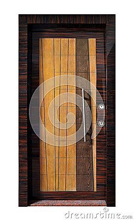 Puerta principal moderna fotos de archivo imagen 24791003 for Puerta principal madera moderna