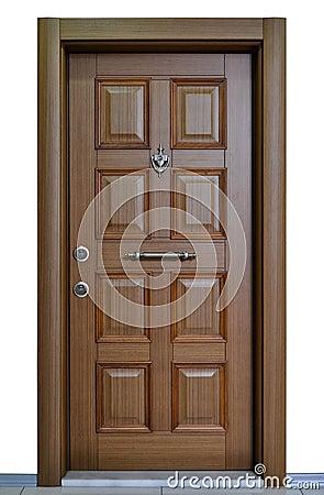 Puerta principal moderna foto de archivo imagen 71436592 for Puerta principal madera moderna