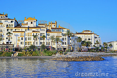 Puerto Banus in Marbella, Spain Editorial Stock Photo