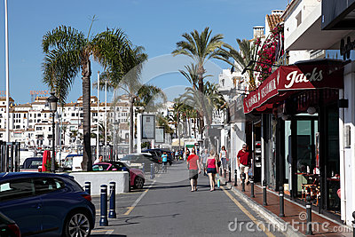 Puerto Banus, Marbella, Spain Editorial Stock Image