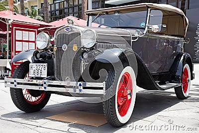 PUERTO DE LA CRUZ - JULY 14: Ford Model A at  Exposicion de vehi Editorial Photo