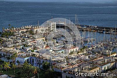 Puerto de Mogan aerial, Gran Canaria, Spain