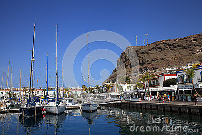 Puerto Mogan Editorial Stock Photo