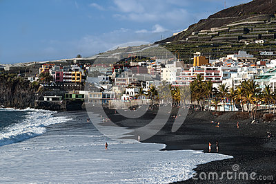 Puerto Naos beach, La Palma Editorial Stock Photo