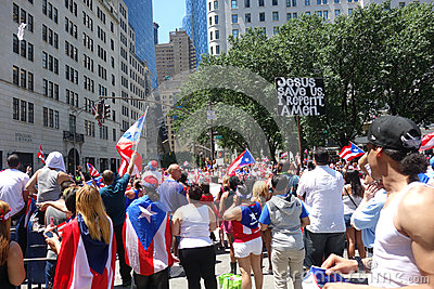2014 Puerto Rican Day Parade Editorial Stock Image