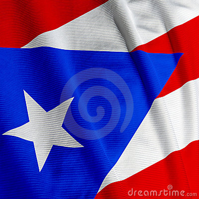 Puerto Rican Flag Closeup