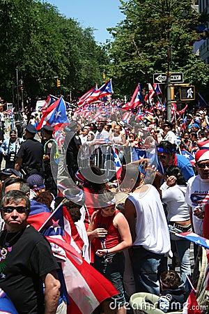 Puerto Rican Street Parade Editorial Photography