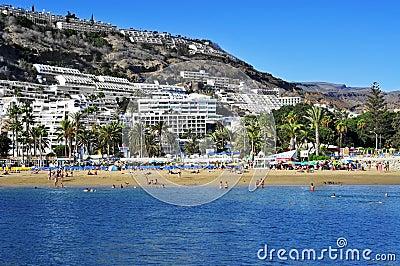 puerto rico strand i gran canaria spanien redaktionell arkivbild bild 36124157. Black Bedroom Furniture Sets. Home Design Ideas