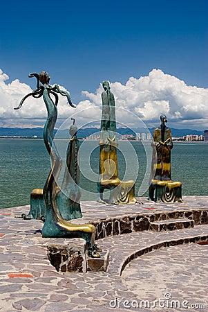 Puerto Vallarta s Malecon Editorial Stock Photo