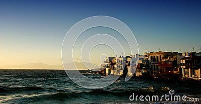 Puesta del sol de Mykonos