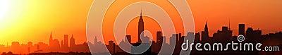 Puesta del sol de Nueva York