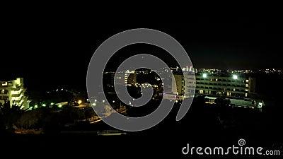 Puesta del sol de Timelapse Chipre Ayia Napa almacen de metraje de vídeo