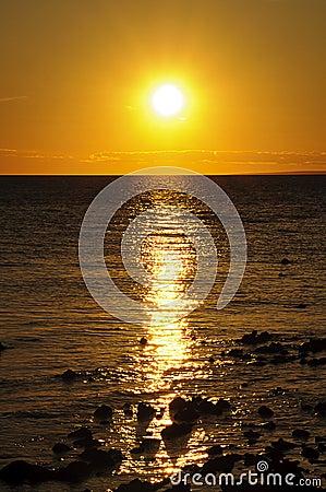 Puesta del sol en Croatia