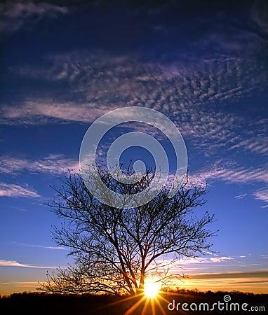 Puesta del sol en Illinois