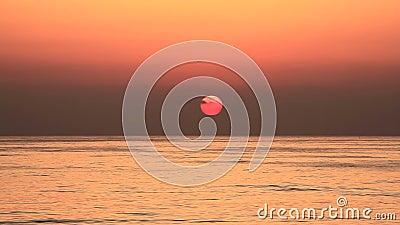 Puesta del sol en Líbano almacen de video