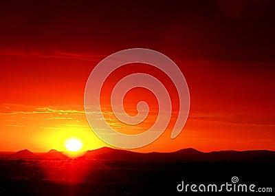 Puesta del sol África