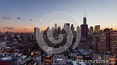 Puesta del sol sobre New York City