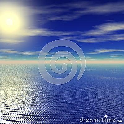Puesta del sol tranquila