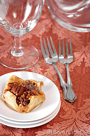 Puff Pastry with Pecans on Table