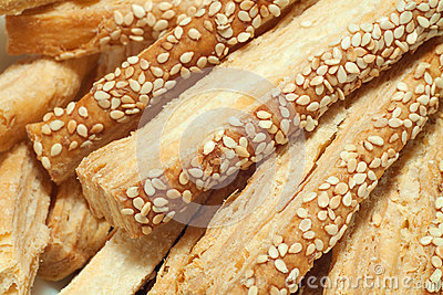 Puff pastry with sesame seeds