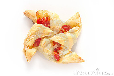 Puff pastry solated on white