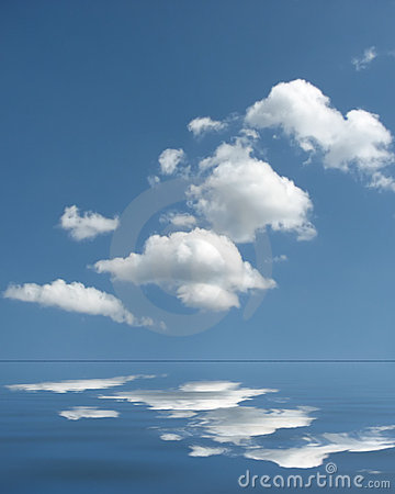 Puffy cloud reflections