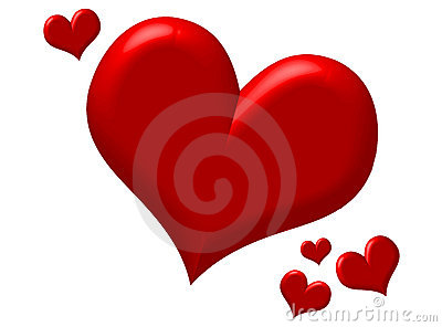 Puffy Red Hearts