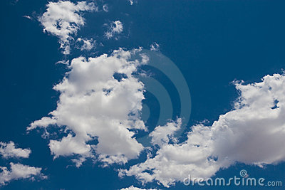 Puffy White Cloud on a Blue Sky